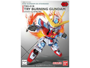 Bandai Hobby Build Fighters SD EX-Standard 011 Try Burning Gundam Model Kit USA