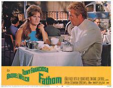 Fathom original 1967 11x14 lobby card Raquel Welch with Tony Franciosa