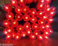 50/100 Red Berry Christmas Lights Berry Shaped Fairy String XMAS Tree Lights