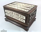 Antique Chinese Bovine Bone Inlaid Hardwood Box