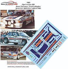 DECALS 1/43 REF 1583 Opel Ascona 400 Henri Toivonen  RALLYE MONTE CARLO 1983