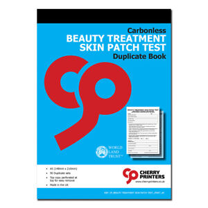Cherry NCR Beauty Treatment Skin Patch Test Duplicate 2part Book A5