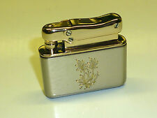 IBELO MONOPOL AUTOMATIC WIK LIGHTER WITH FLOWER MOTIF - 1952 - MADE IN GERMANY