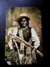Native American Mescalero Apache, ca. 1880s tintype C561RP