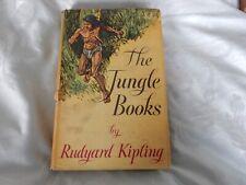 The Jungle Books by RUDYARD KIPLING   Vintage / Rare  Hardback Book - 1955