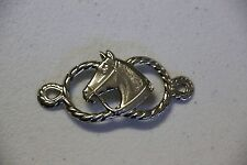 Silver Tinted Horse-head Leather Decoration 10ea