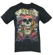 Guns and Roses GNR Mens T-Shirt - Skull Roses & Double Guns Image 2013 Tour