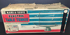Vintage Marx-A-Serve Marx Electronic Table Tennis Toy Battery Operated Working