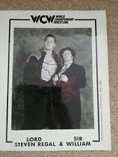 WCW Lord Steven Regal Autograph WCW promo Pic