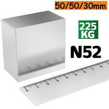 Super Neodymium Magnet 50*50*30mm 225kg Pull Strength N52 Magnet 50 x 50 x 30 mm