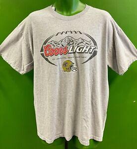 T912/240 NFL New Orleans Saints Coors Light Grey T-Shirt Men's X-Large
