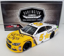 NASCAR 2017 KASEY KAHNE #5 GREAT CLIPS DARLINGTON THROWBACK 1/24 DIECAST CAR