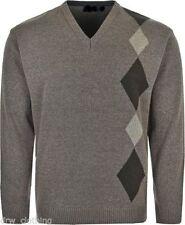 Cotton V Neck Medium Knit Long Jumpers & Cardigans for Men
