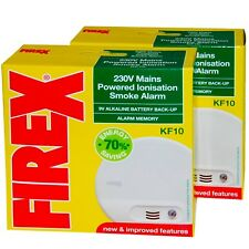 2 x Kidde Firex  KF10 Mains Smoke Alarm Detector replaces KF1 4870 -  SENKF10