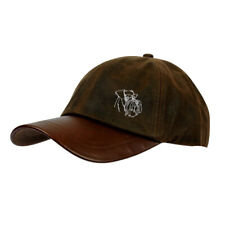 More details for schnauzer clothing gifts, waxed cotton leather peak waterproof baseball cap.