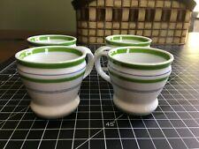 Starbucks Retro Diner Espresso / Demitasse Cup  Mug Set of Four in Spring Green