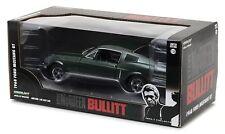 Modellino Auto 1968 FORD MUSTANG GT Scala 1:24 BULLIT Greenlight STEVE MCQUEEN