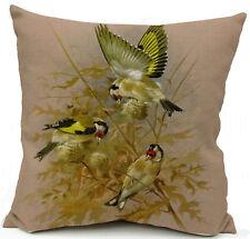 Kissenhülle Kissenbezug Motivkissen Dekokissen Vögel Canvas-Stoff, 43 x 43 cm