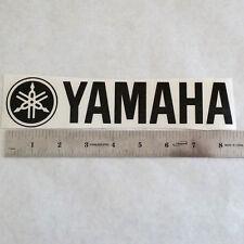 YAMAHA Vinyl DECAL STICKER BLK/WHT/RED Logo Motors Guitar Dirtbike Quad Drums