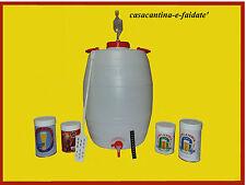 KIT BIRRA : FERMENTATORE A BOTTE IN PLASTICA , 50 LITRI CON ACCESSORI + malto