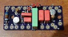 F-2B Bass Guitar Preamp Loaded PCB Vacuum Tube w/Standoff Ext Resistor Brite Cap