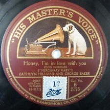 78rpm KATHLYN HILLIARD+GEORGE BAKER honey i'm in love with you / tie a string
