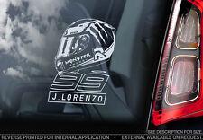 Jorge Lorenzo #99 - Auto Finestrino Adesivo -moto Gp Moto Insegna Casco -V04