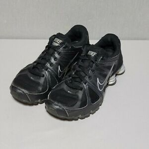 Nike Shox Agent Fly Wire Running Shoes Women's Size 8 (438683-010) Black/Silver