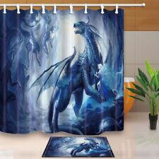 Dragon Patron Saint And Man Woman Bathroom Fabric Shower Curtain Set 71Inches