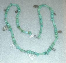 fine long Coldwater Creek turquoise stone necklace