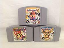 Mario Party 1, 2 & 3 - Nintendo 64 - Authentic - N64 - 3P
