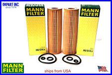 Mercedes C230 2003-2005 Oil Filter 271 180 00 09 MANN HU514x  Qnt (2) Filters