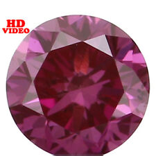 Natural Loose Diamond Round VS1 Clarity Purple Pink Color 2.70 MM 0.08 Ct N8030