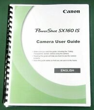 Canon PowerShot SX160 IS Instruction Manual: 214 Pages & Protective Covers