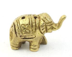 Brass Elephant Small Indian Incense Holder 3.5 cm x 2.2 cm