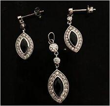Schmuck Set aus Sterling Silber 925 mit Zirkonia Ohrringe Anhänger Silber 925