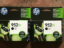 New 2-Pack Genuine HP 952XL Black ink cartridge OEM F6U19AN Retail Box Exp 2018
