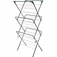 3 Tier Clothes Airer Horse Winged Tower Folding Laundry Dryer Rack Indoor UK
