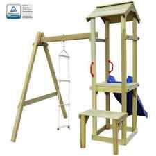 vidaXL Speelhuis Glijbaan en Ladder Hout Speeltoestel Speel Toestel Tuin Kind