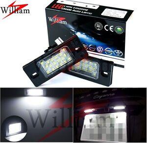 2 Bulbs LED License Plate Light Xenon White For VW Passat Variant B5.5 2001-2006