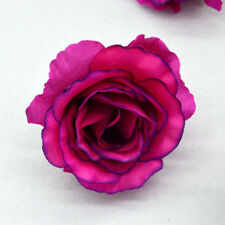 Artificial Fake Silk Flowers Rose Head Wedding Bride Bouquet Party Home Decor 8@