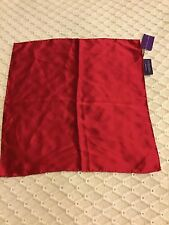 Ralph Lauren  Purple Label Luxury Hand crafted ,silk Ruby  pocket square new