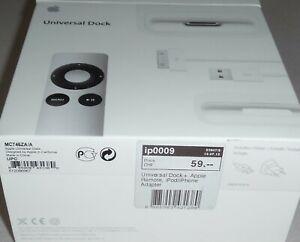 Apple Universal dock MC746ZA/A  Remote Fernbedienung & Adapter iPod iPhone NP59,