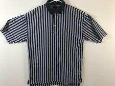 Vintage Tommy Hilfiger Golf Polo Shirt Lion Crest Navy/purple Striped XL Mens
