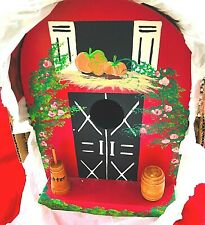 Hand Made & Painted Bird House Copper Roof Beautiful Intricate Art Work NIB 1oKD
