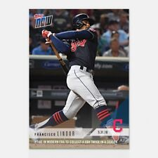 2018 TOPPS NOW #272 1ST SS IN ERA TO COLLECT 4 XBH TWICE SEASON FRANCISCO LINDOR