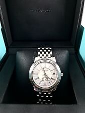 Auth. Tiffany & Co. Mark Quartz Resonator Stainless Silver Dial Date Men's Watch
