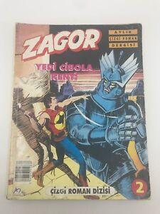 ZAGOR #2 Turkish Comic Book 1990s VERY RARE Sergio Bonelli