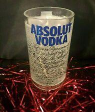 Absolut Vodka CANDLE Handmade LIQUOR BOTTLE Glowing GEL WAX Home Bar/Patio/Gift!