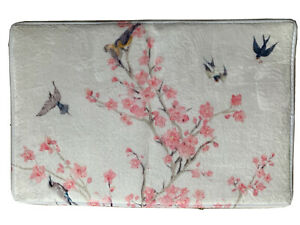 Pink Blossom And Birds Soft Bath/ House Door Mat. New. With None Slip Backing.
